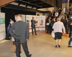 EXCEPT photo competition exhibition presented at a scientific conference on the impact and value of European research for society